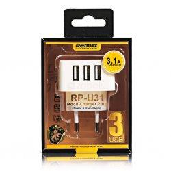 Remax Adapter 3.1A 3 USB RPU31