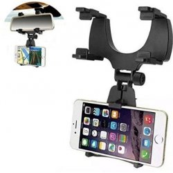 iMount Car Rear View Mirror Mount Phone Holder