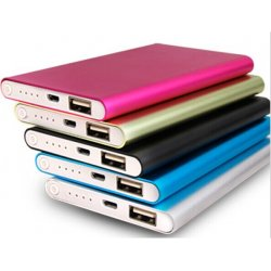 Slim Chrome Metal 6000mAh Power Bank