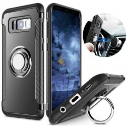 Samsung Galaxy S8 Plus Premium Hard Back Case with Magnetic 360 iRing