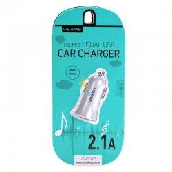 USAMS Trumpet Dual USB Car Charger