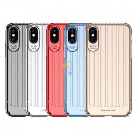USAMS Apple iPhone X Luggage Durable Back Case