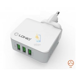 LDNIO 3.4A Auto ID 3 USB Adapter